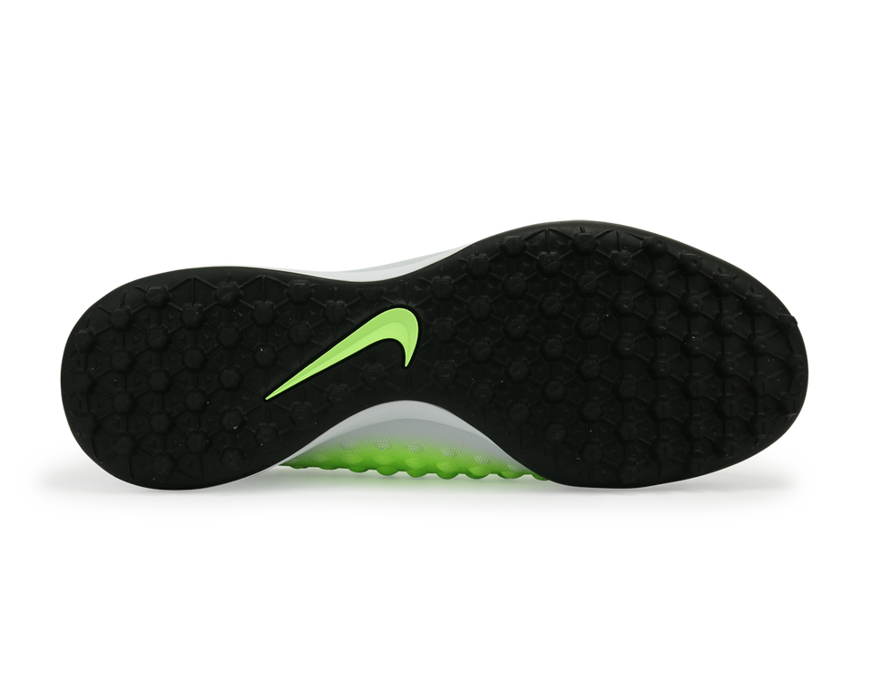 Nike Men's MagistaX Onda II Turf Soccer Shoes Pure Platinum/Black/Ghost Green