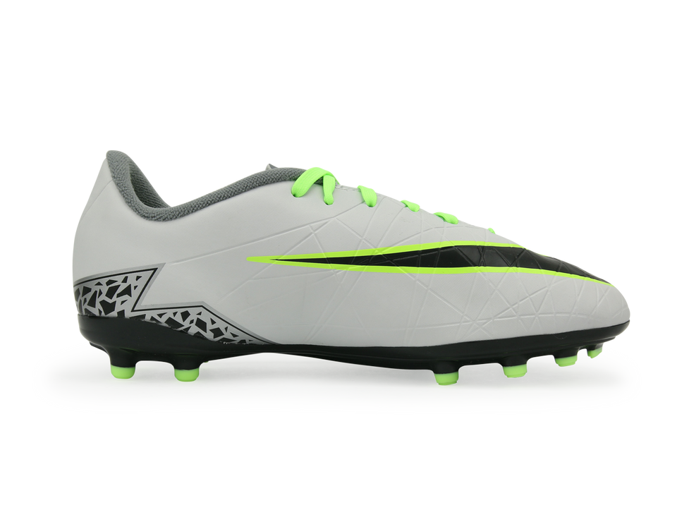 Nike Kids Hypervenom Phelon II FG Pure Platinum/Black/Ghost Green