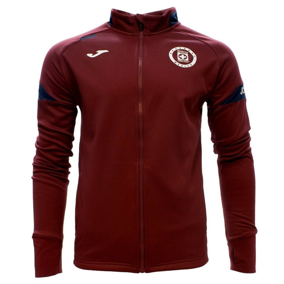Joma Men's Cruz Azul Jacket Burgundy/White Front