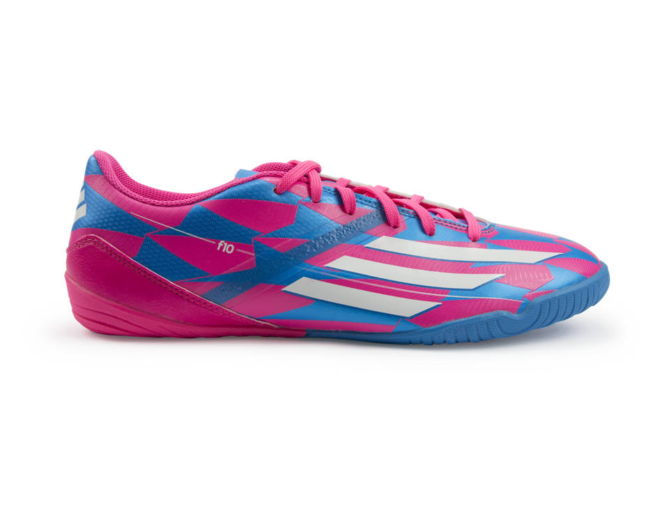 Adidas Men's F10 (Messi) Indoor Soccer Shoes Solar Pink/White/Solar Blue
