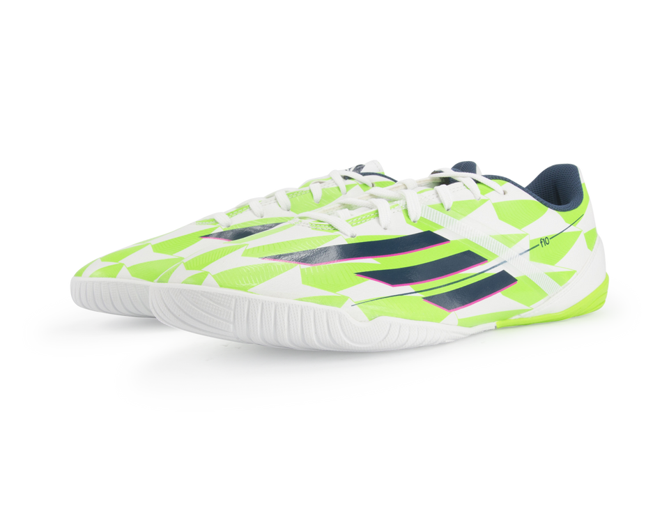 adidas Men's F10 Indoor Soccer Shoes White