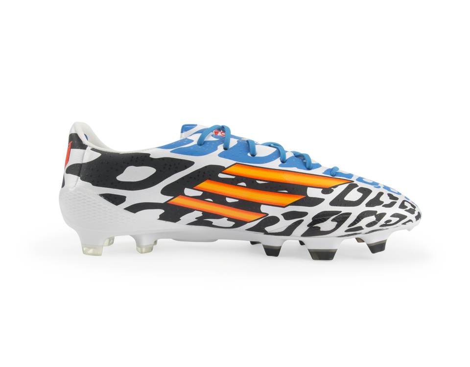adidas Men's F50 adizero FG Messi (Battle Pack) White/Neon Orange/Black