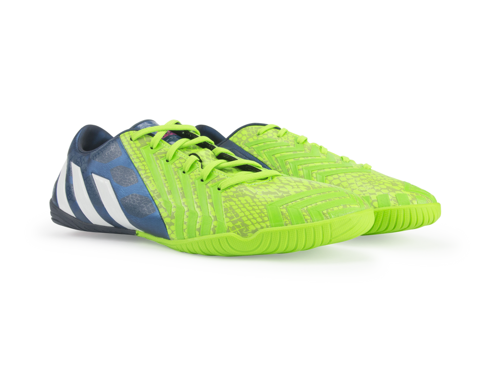 adidas Men's Predator Absolado Instinct Indoor Soccer Shoes Rich Blue/Running White/Neon Green