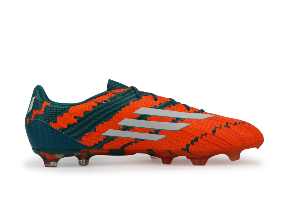 adidas Men's Messi 10.2 FG Power Teal/White/Solar Orange