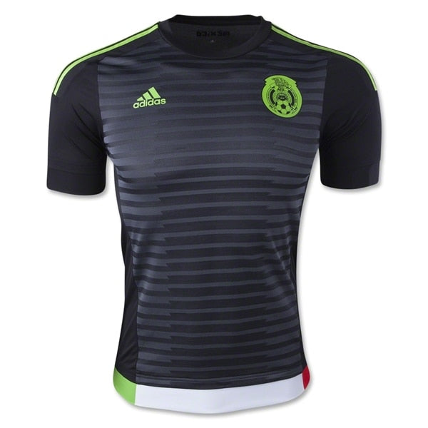 adidas Men's Mexico 15/16 Authentic Home Jersey Dark Shale/Semi Solar Green