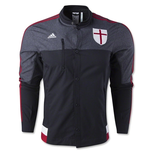 adidas Men's AC Milan Anthem Jacket Black/Victory Red/Core White