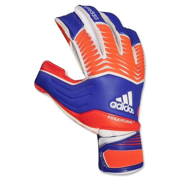 adidas Men's Goalkeeper Predator Zones Fingersave Gloves Night Flash/Solar Red/White