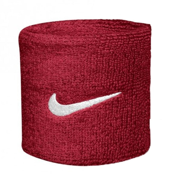 Nike Swoosh Wristband One Size Fits Most Maroon