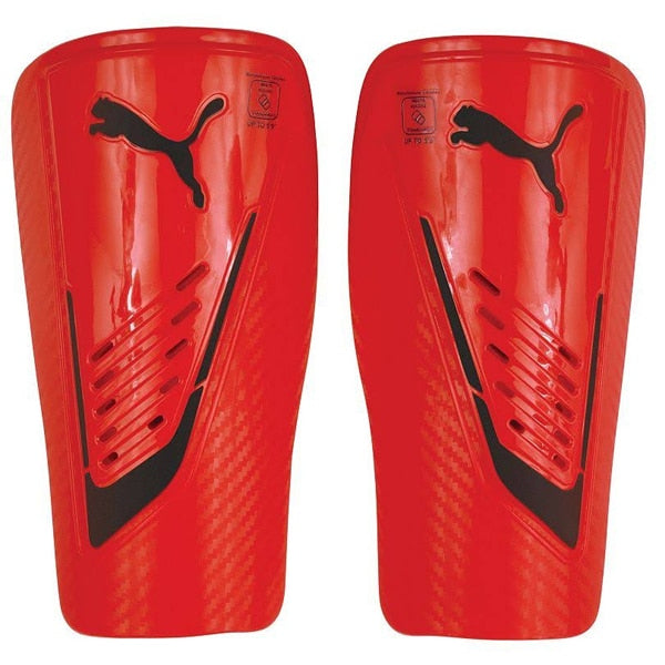 PUMA Power Protect Shin Guards Red