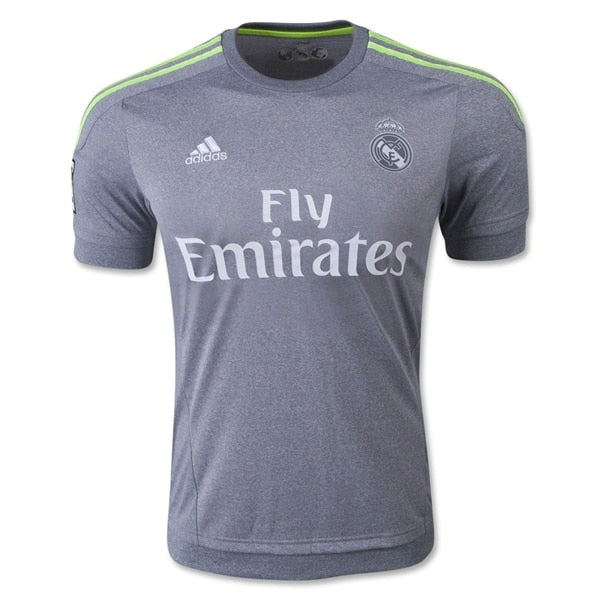 adidas Kids Real Madrid 15/16 Away Jersey Grey/Solar Yellow/White