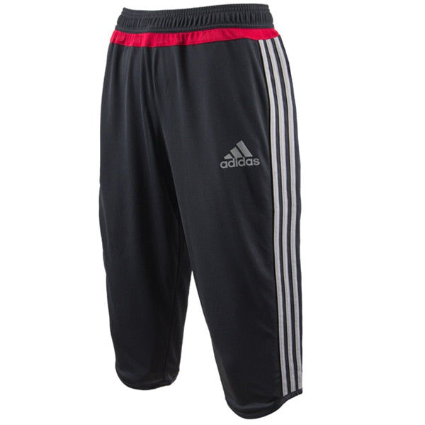 adidas Men's AC Milan 3/4 Training Pants Black/Charcoal Solid Grey/Victory Red