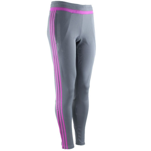 adidas Women's Tiro 15 Soccer Training Pants Vista Grey/Flash Pink