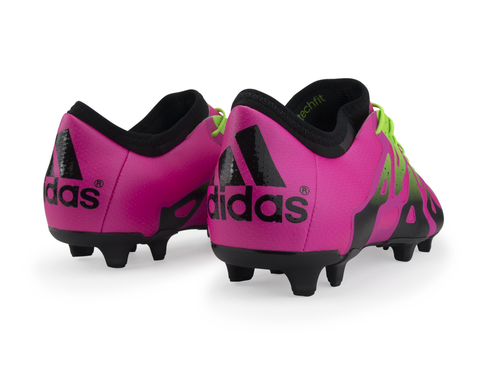 adidas Men's X 15.1 FG/AG Shock Pink/Solar Green/Black