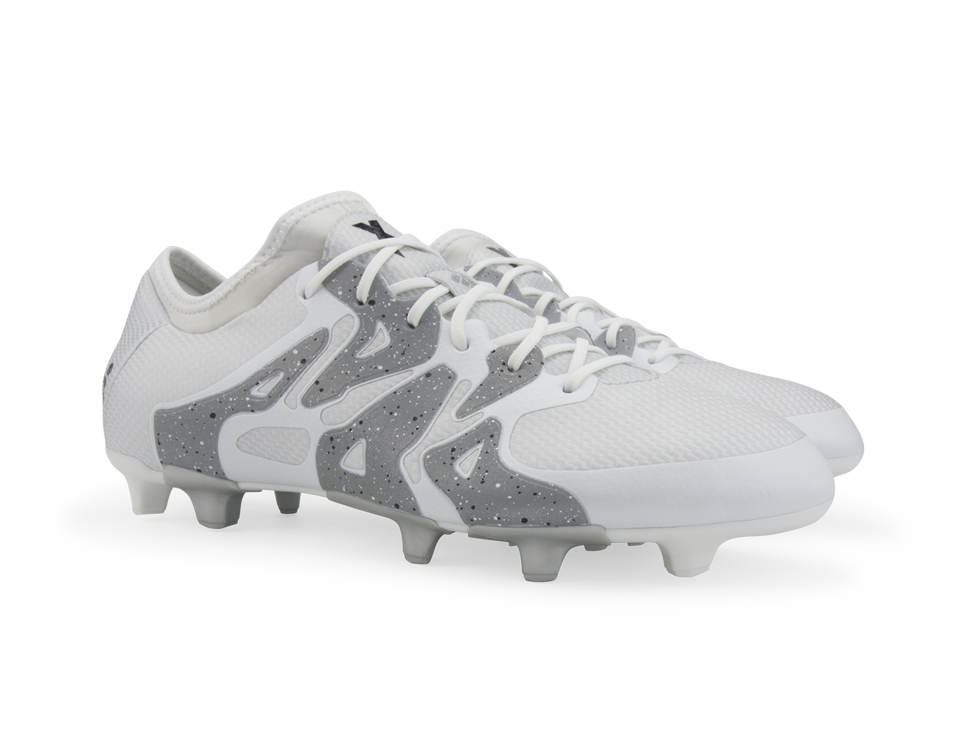 adidas Men's X 15.1 FG/AG White/Core Black/Silver Metallic