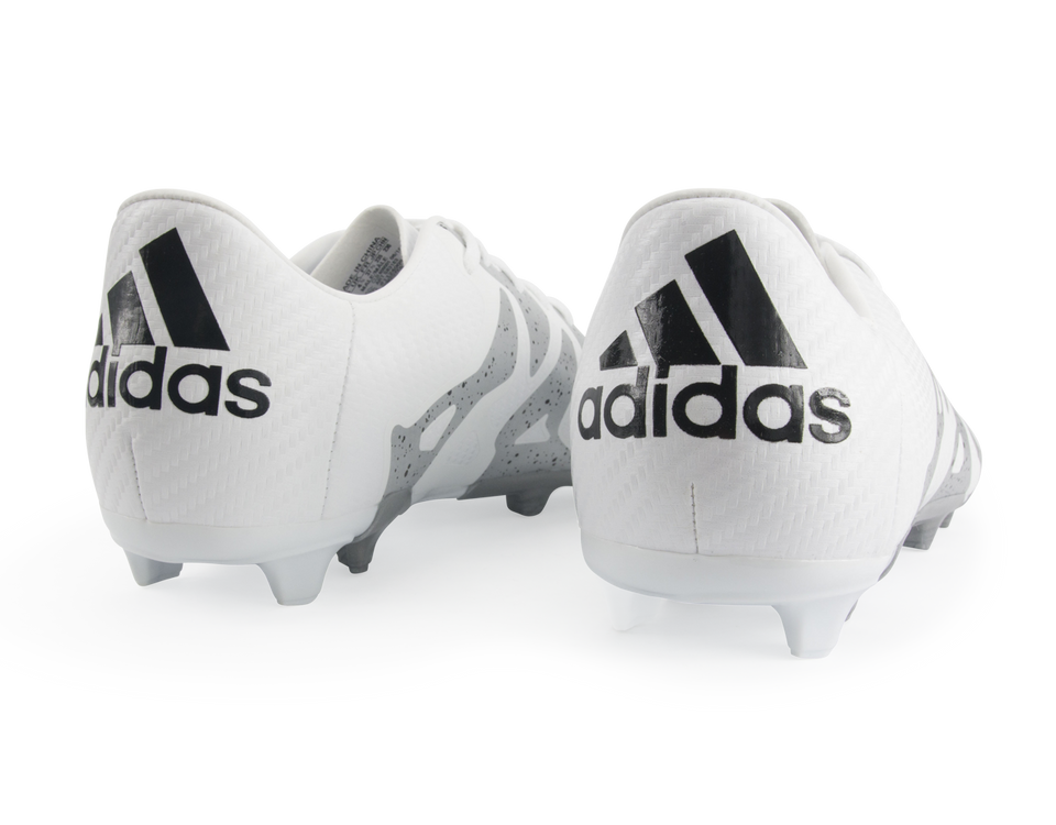 adidas Kids X 15.3 FG/AG White/Core Black/Silver Metallic
