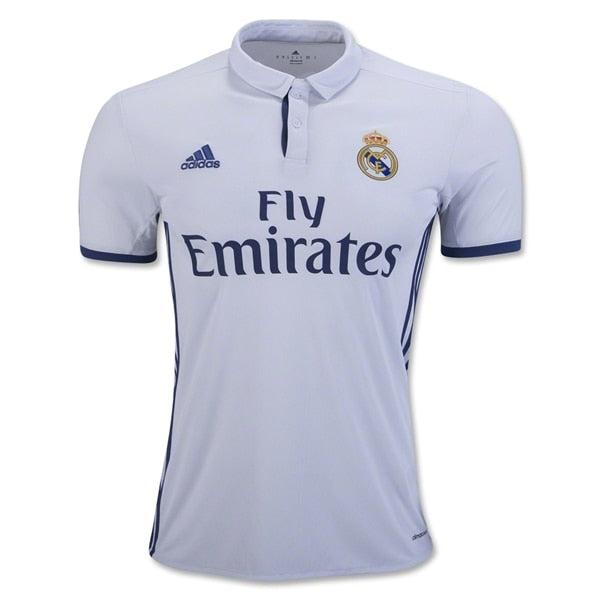 adidas Men's Real Madrid 16/17 Home Jersey Crystal White/Raw Purple