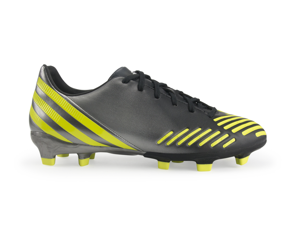 adidas Men's Predator Absolado LZ TRX FG Black/Neo Iron Metallic/Lab Lime