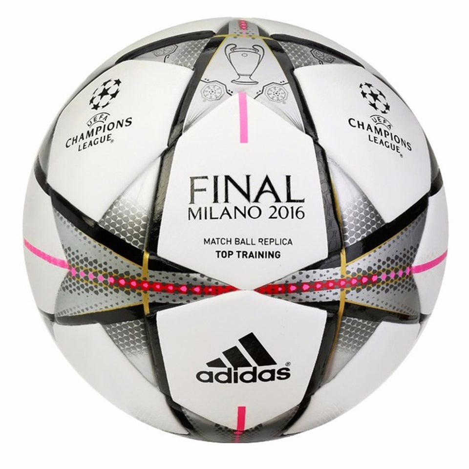 adidas Final Milano 2016 Top Training Ball White Front View