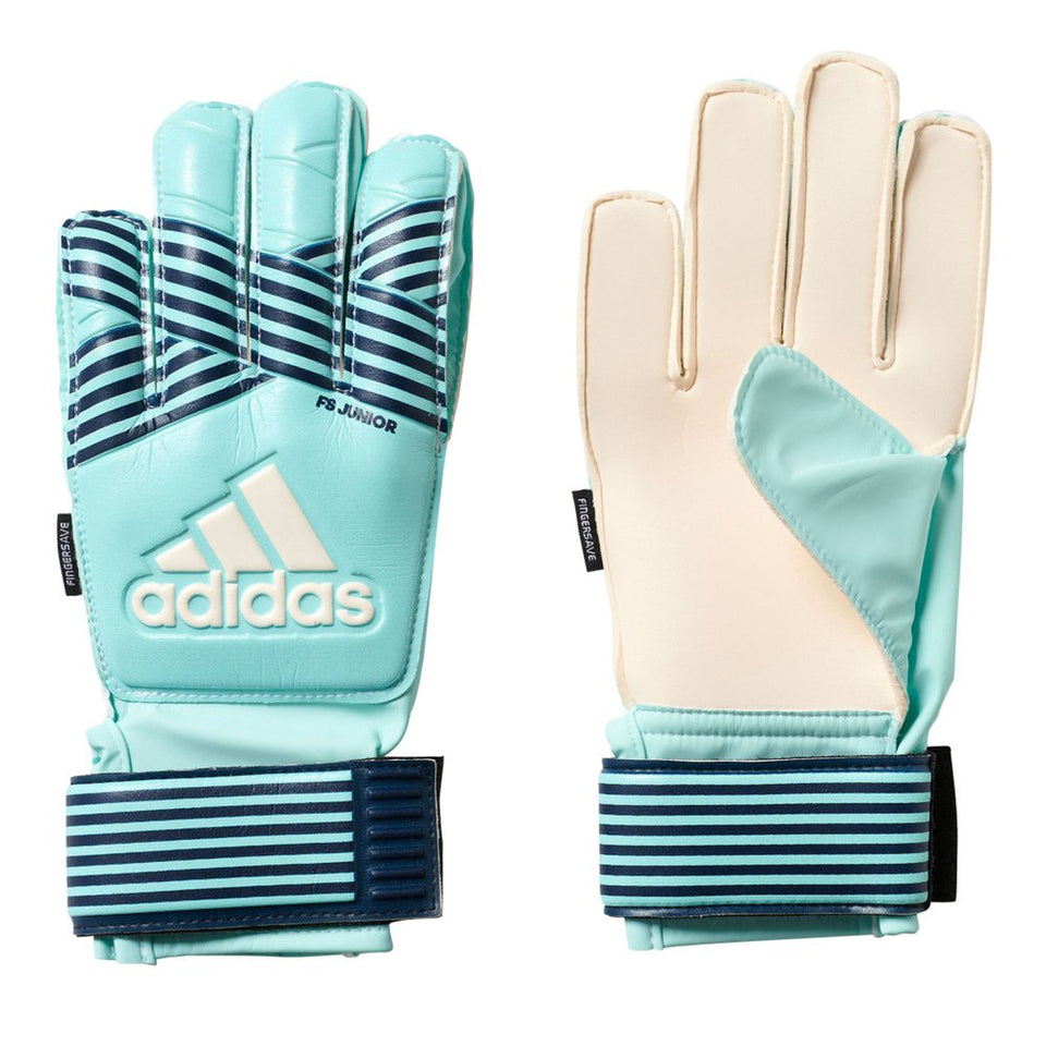 adidas Kids Ace Fingersave Goalkeeper Glove Energy Aqua/Energy Blue