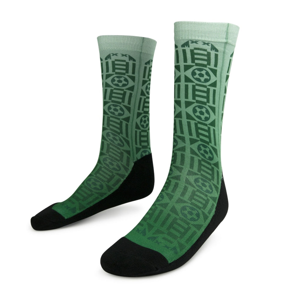 Sockatines Men's Mexico '92 Lifestyle Sock White/Black/Green