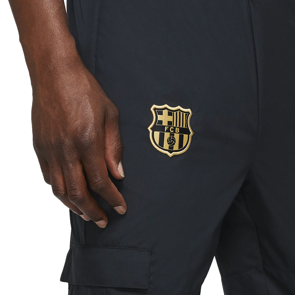 Nike Men's FC Barcelona Woven Track Pants Black/Gold