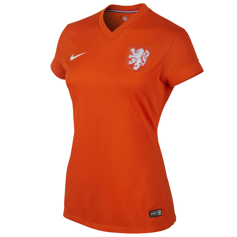 Nike Women's Netherlands 2014 Home Soccer Jersey Safety Orange/Football White