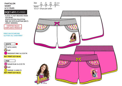 Officiel Soy Luna sommer shorts pink