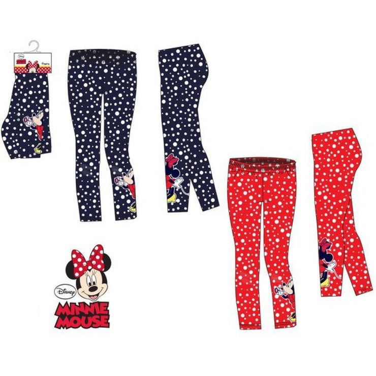 Officiel Disney Minnie leggings rød