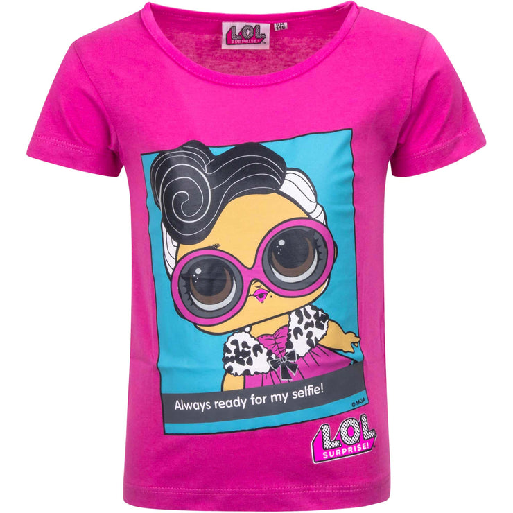 LOL  T-SHIRT pink/lilla