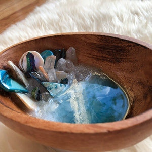 wood ocean-scape jewelry/trinket dish