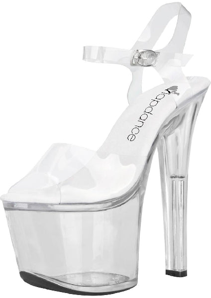 Clear Platform Sandal With Quick Release Strap 7in Heel Size 8