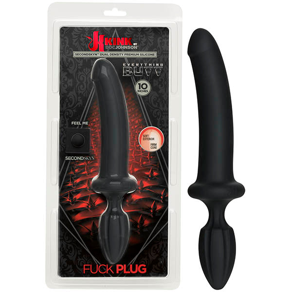 KINK Fuck Plug - Black 25.4 cm (10'') Double Ended Dong & Butt Plug