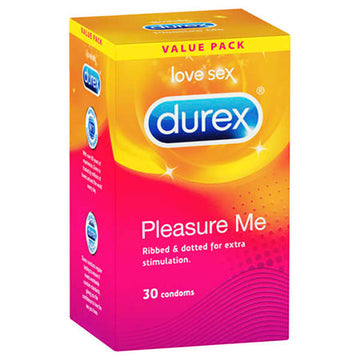 Durex Pleasure Me - Ribbed & Studded Condoms - 30 Pack