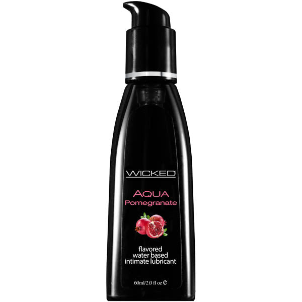 Wicked Aqua Pomegranate - Pomegranate Flavoured Water Based Lubricant - 60 ml (2 oz) Bottle