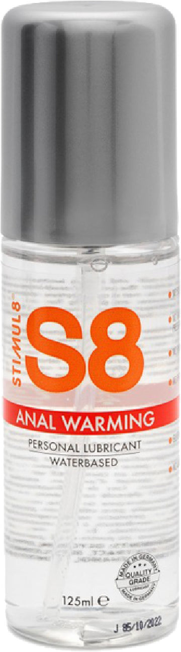 S8 Warming WB Anal Lube 125ml