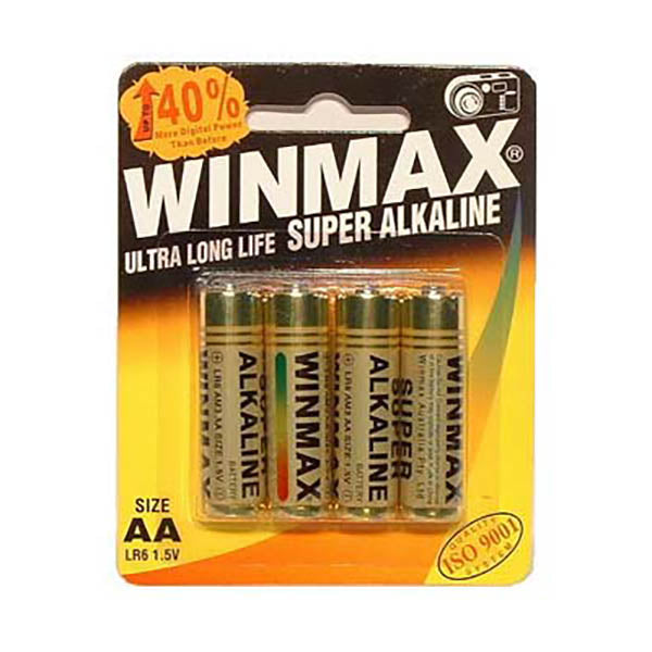 Winmax Aa Super Alkaline Batteries - Super Alkaline Batteries - AA 4 Pack