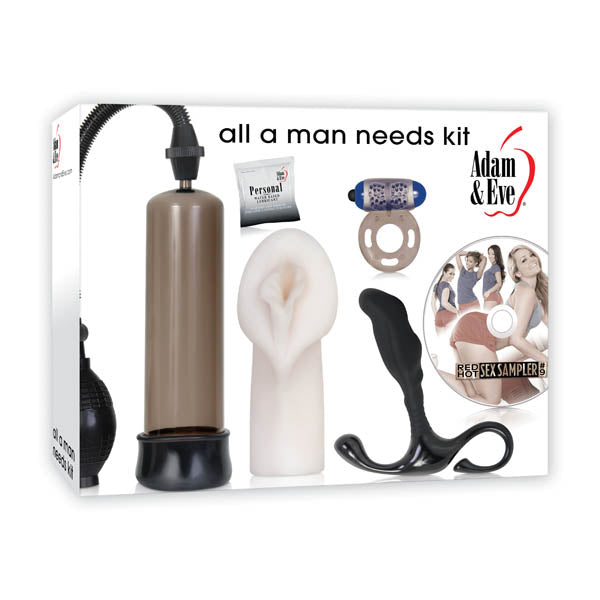 Adam & Eve All A Man Needs Kit - 5 Piece Set