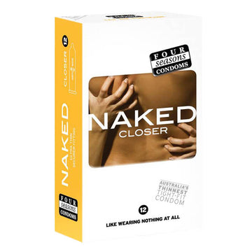 Naked Closer - Ultra Thin Tighter Lubed Condoms - 12 Pack
