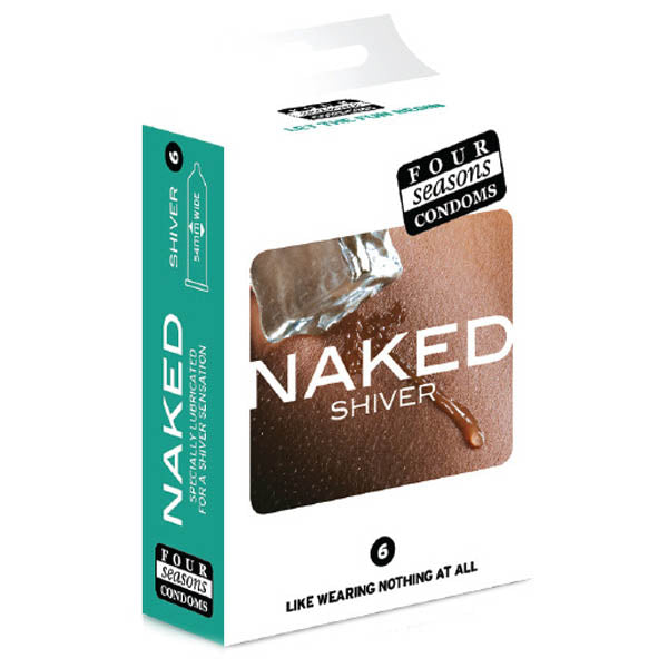Naked Shiver - Ultra Thin Lubricated Condoms - 6 Pack