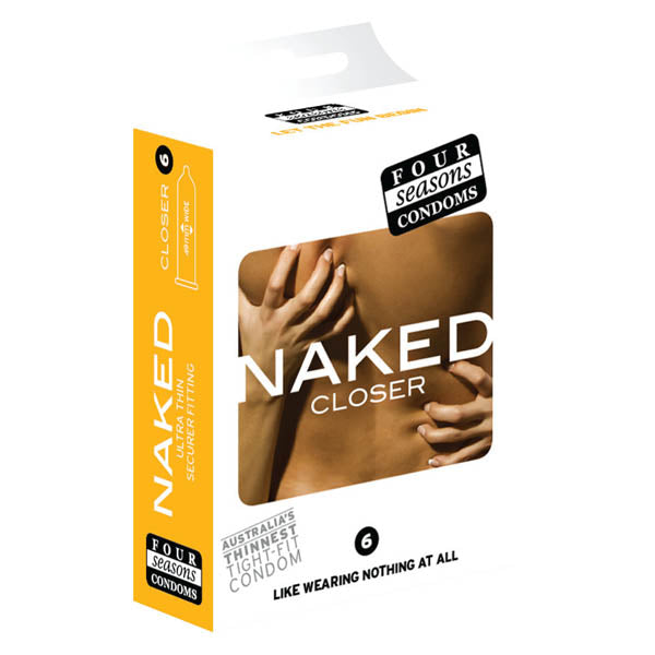 Naked Closer - Ultra Thin Lubricated Condoms - 6 Pack