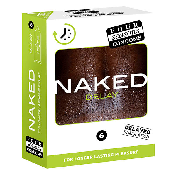 Four Seasons Naked Delay - Ultra Thin Condoms - 6 Pack