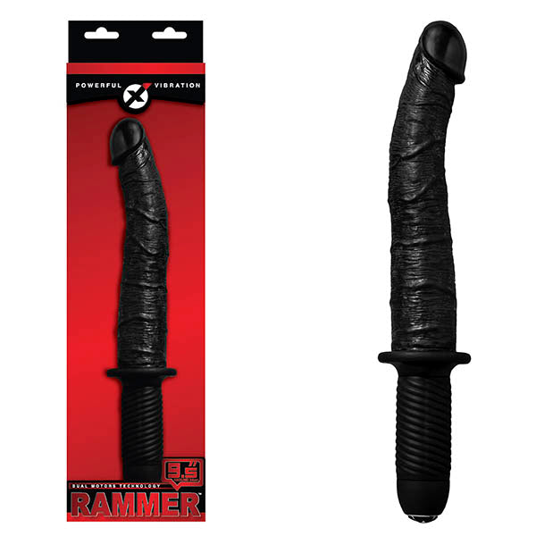 Rammer - Black 24 cm (9.5'') Vibrating Dong with Handle