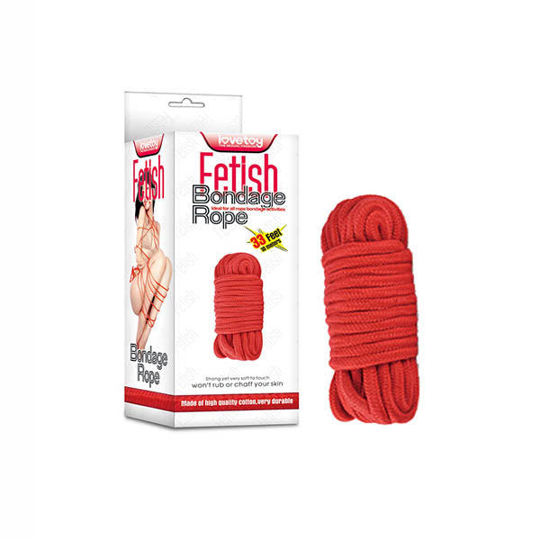 Fetish Bondage Rope - Red - 10 m Length