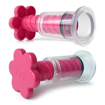 KinkLab T-Cups Nipple Suction Set - Pink Nipple Suckers - Set of 2