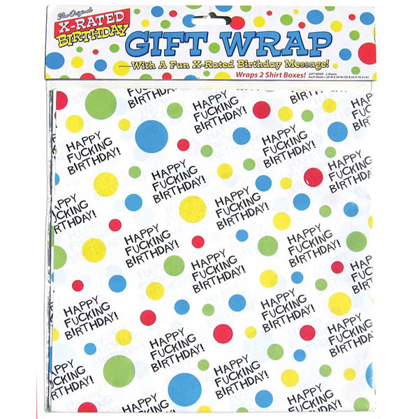 X-Rated Birthday Gift Wrap Paper - Novelty Wrap