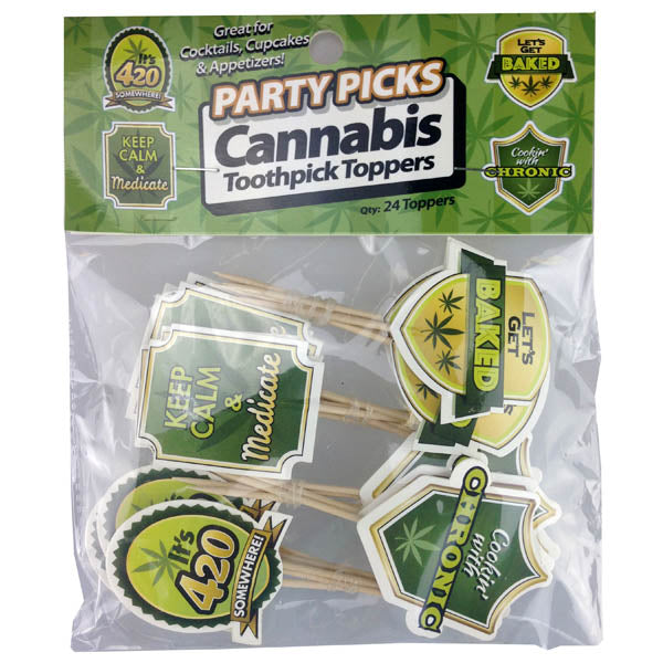 Cannabis Party Picks - Party Food Picks - 24 Pack