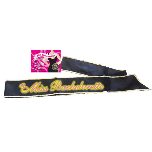 Bride-to-be Sash - Glow in the Dark Black Hen's Party Sash