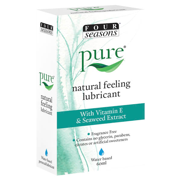 Four Seasons Pure Natural Feeling Lubricant - Water Based Lubricant - 60 ml