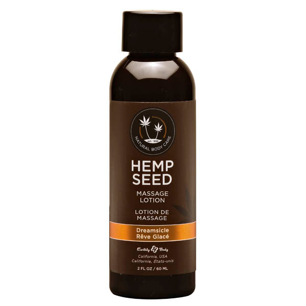 Hemp Seed Massage Lotion - Dreamsicle (Tangerine & Plum) Scented - 59 ml Bottle