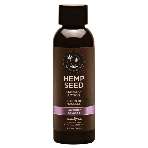 Hemp Seed Massage Lotion - Lavender Scented - 59 ml Bottle